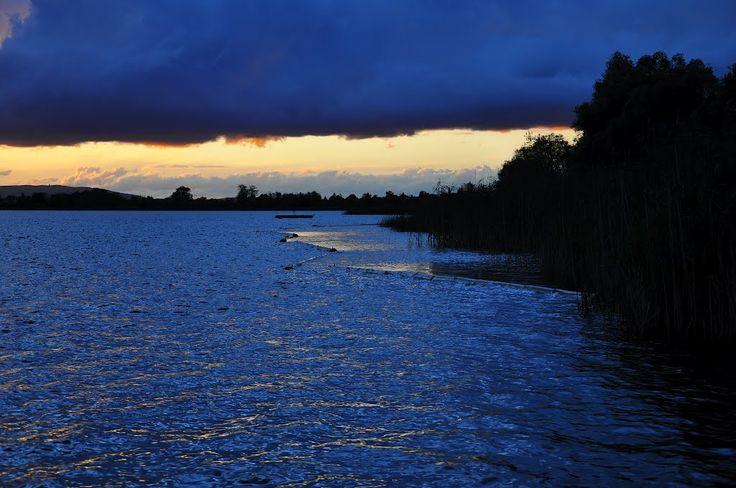 blau in blau - Abendstimmung am Greifensee