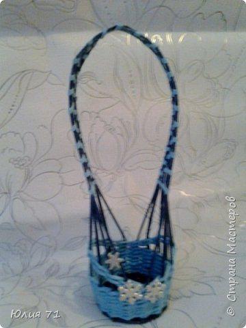 Поделка изделие Плетение Кашпо корзинки коробка Бумага газетная Трубочки бумажные фото 3