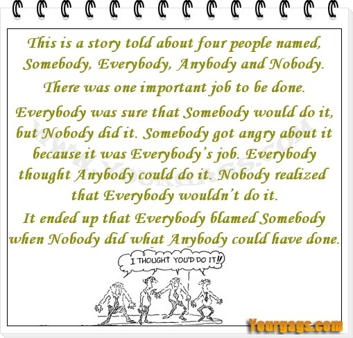 Do You Put Short Stories In Quotes: That's Not My Job #short #story #somebody #nobody