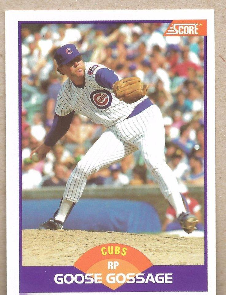 Baseball Card 1989 CUBS Score #223 Goose Gossage #ChicagoCubs