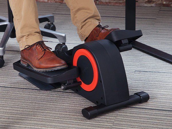 Cubii's under desk elliptical, discovered by The Grommet, lets you pedal through the day–at work. It's quiet, lightweight, and Bluetooth-connected.
