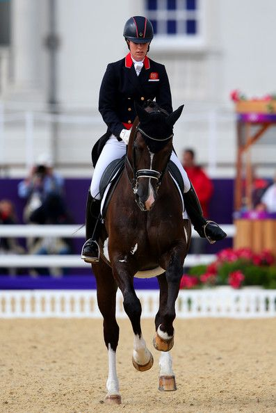 Charlotte Dujardin Photos Photos - Charlotte Dujardin of Great Britain riding Valegro competes in the Team Dressage Grand Prix Special on Day 11 of the London 2012 Olympic Games at Greenwich Park on August 7, 2012 in London, England. - Olympics Day 11 - Equestrian