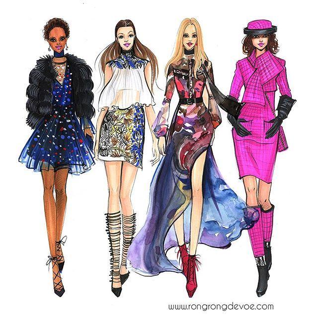 Fashion illustration of Paris fashion week 2016 by Fashion ...