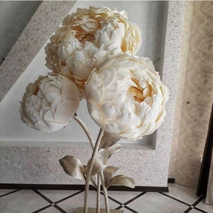 Большие цветы  Мастер Букета  Декор  Обучение