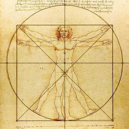 Hombre de Vitrubio, Leonardo da Vinci