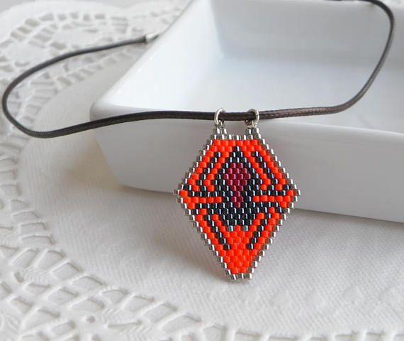 Halloween necklace Halloween gifts handmade Spider necklace
