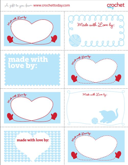 Knitting Labels Free : Best images about knit crochet care labels on