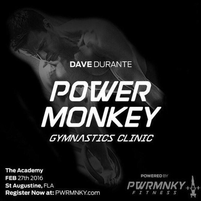 #PowerMonkey Gymnastics training clinic with @davedurante and @colinpgeraghty  coming to The Academy!! Saturday January 27th 11-5. Register through the link in our profile! These guys are THE experts. Looking forward to seeing you there // #gymnastics #clinic #crossfit #southeastfitness #supportlocal theacademy.fitness #staugustinebuzz #staugsocial #muscleups #handstandpushup by theacademy.fitness