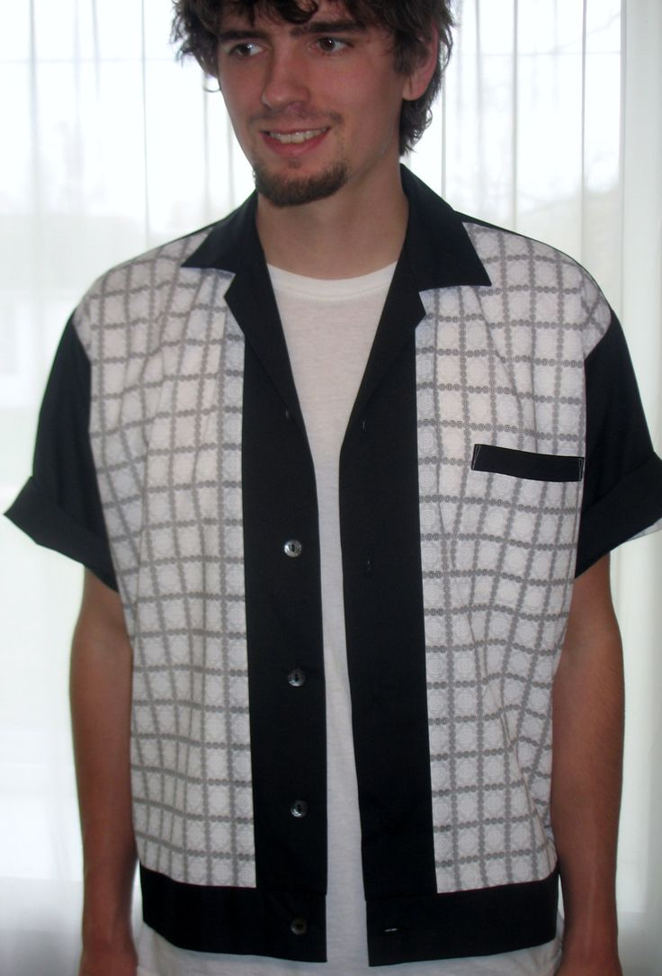 Men's Rockabilly Shirt Jac Vintage Black & White Plaid by LennyShirts on Etsy https://www.etsy.com/listing/261470787/mens-rockabilly-shirt-jac-vintage-black
