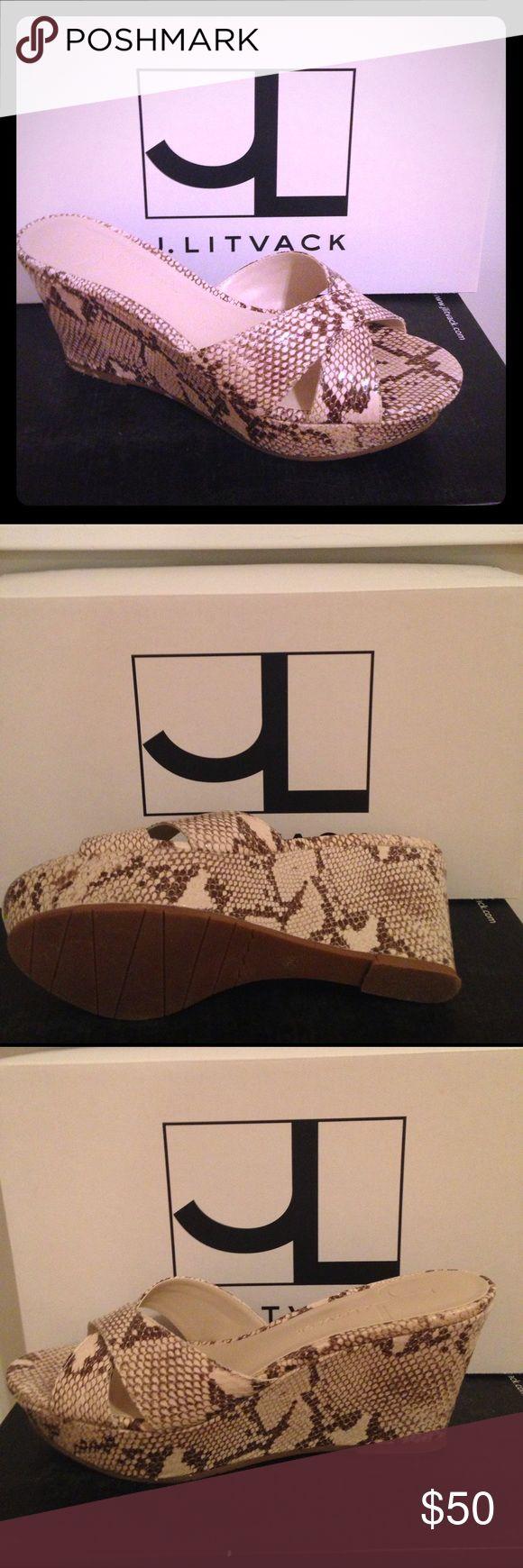 J.litvack shoes J.Litvack style: sutton color: natural Python wedge Shoes Wedges