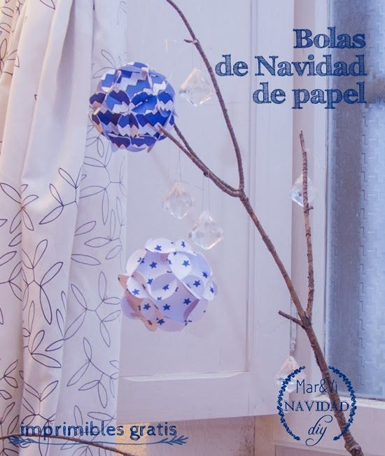 Mar&Vi Blog: Navidad DIY: Bolas de Navidad 3D de papel