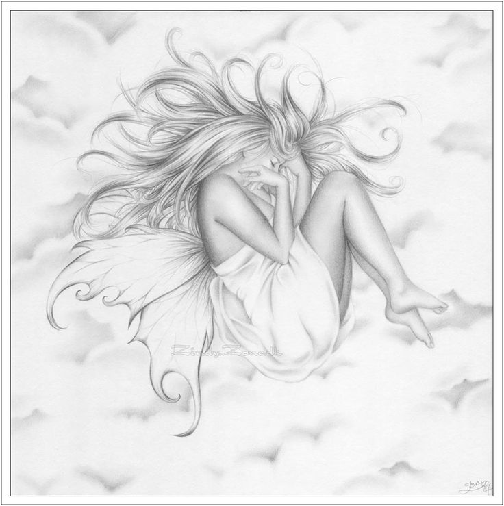 drawings of clouds | Zindy-Zone.dk - Fantasy and Emotional Drawings - Peaceful at my cloud