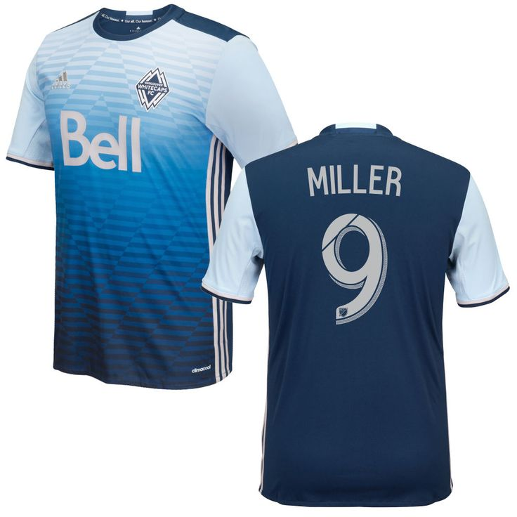 Kenny Miller 9 Vancouver Whitecaps FC 2016/17 Away Soccer Jersey Deep Sea Blue