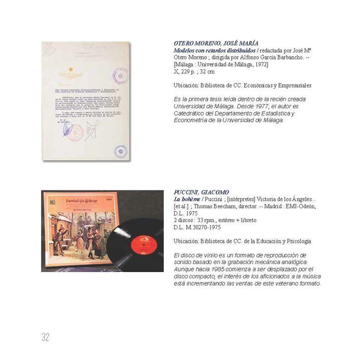 Modelos con retardos distribuidos / redactada por José Mª Otero Moreno ; dirigida por Alfonso García Barbancho. -- [Málaga : Universidad de Málaga, 1972]. La bohème / Puccini ; [intérpretes] Victoria de los Ángeles... [et al.] ; Thomas Beecham, director. -- Madrid : EMI-Odeón, disco de vinilo. Ejemplares localizables en http://jabega.uma.es/