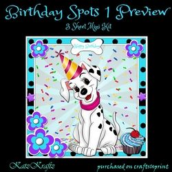 Birthday Spots 1 Mini Kit on Craftsuprint - View Now!