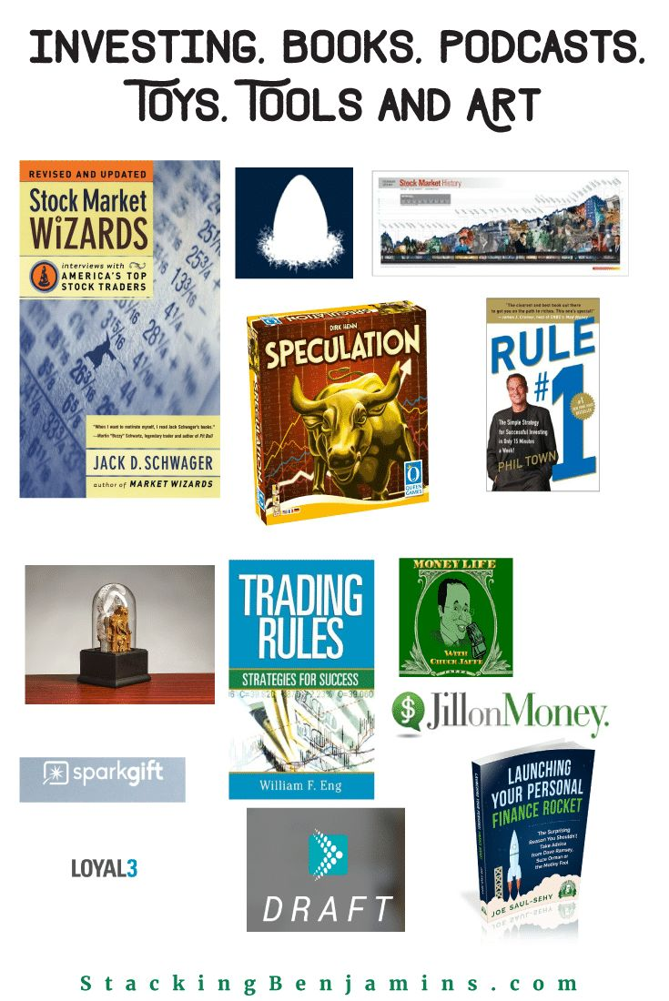 Investing Books, Podcasts, Toys, Tools and Art