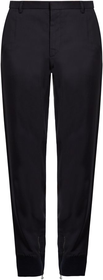 LANVIN Crepe ribbed-cuff trousers