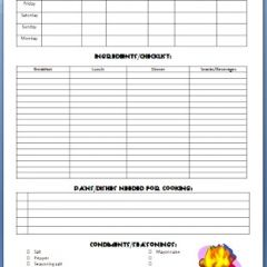 camping meal planner and guide free printable home sweet home