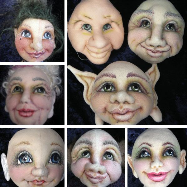 Figurative Artists Consortium class in sculpting and painting faces by Marilyn Halcomb