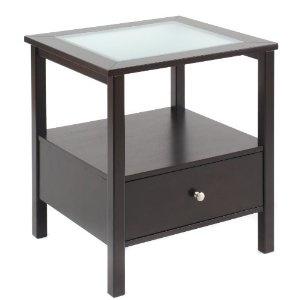 end tableGlasses Tops, Side Tables, Games Room, Bianco Collection, Espresso Glasses, Bays Shore, End Tables, Collection Espresso, Living Room Furniture