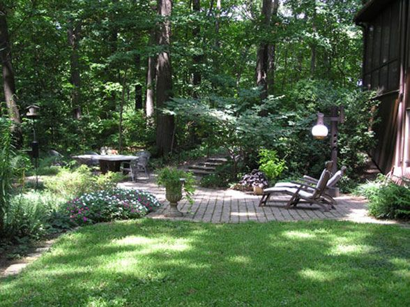 Back yard retreat back yards pinterest gardens for Shade garden designs