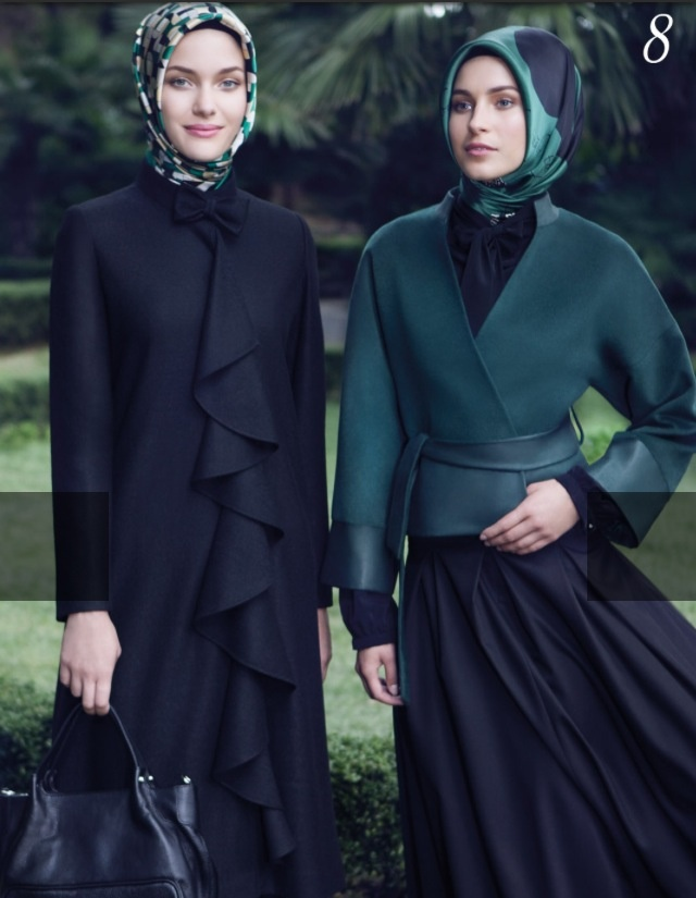 Tugba collection hijab loving the coat with the lovely frills