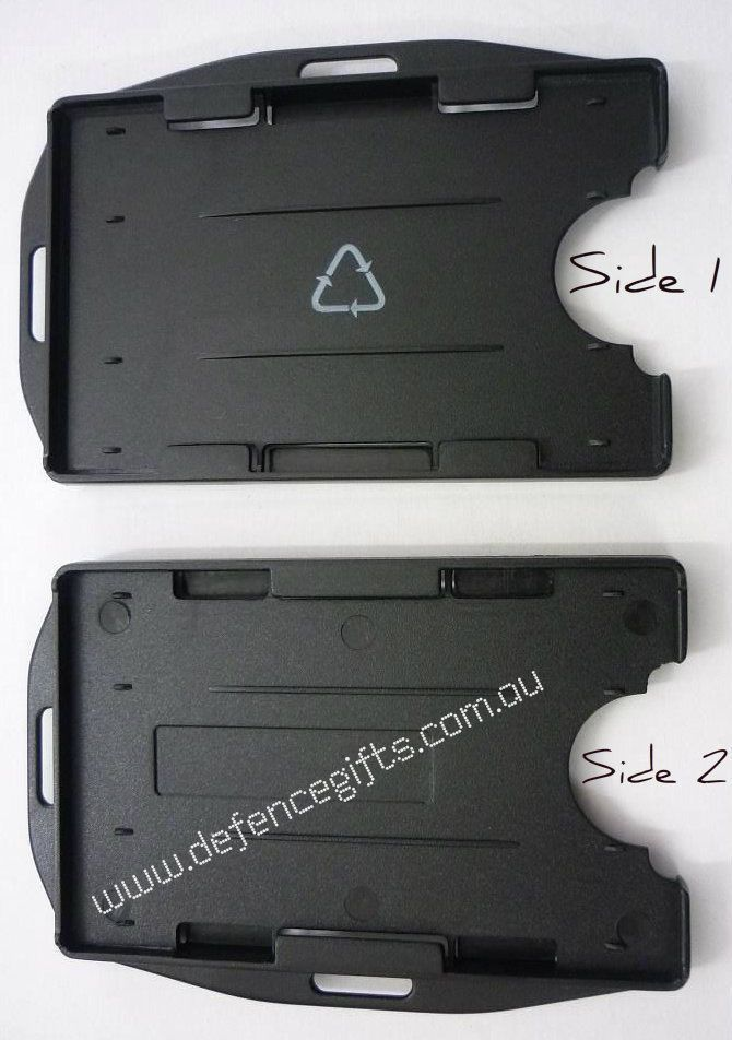 Double ID Holder (Black)  ID Card Fuel Security Card Holder