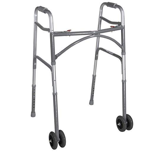 Drive Medical Heavy Duty Bariatric Two Button Walker With