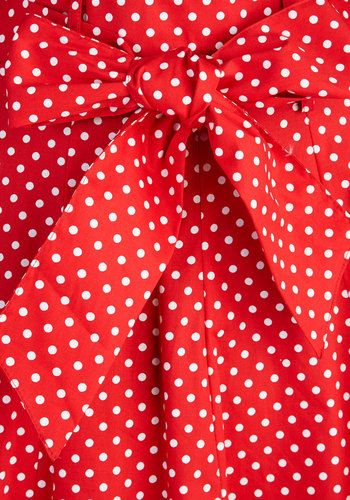 Musee Matisse Skirt in Red Dots | Mod Retro Vintage Skirts | ModCloth.com