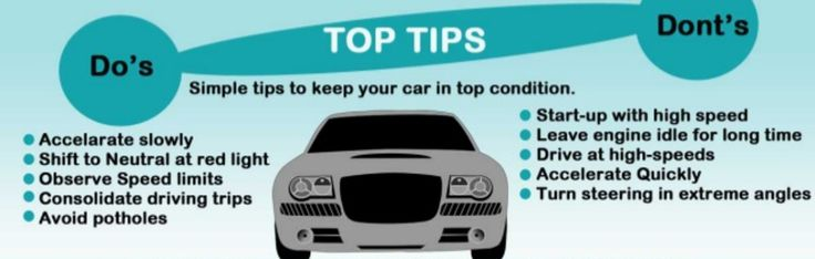 Keep your car in tip-top shape with these easy do's and don'ts!   #cartips #maintenance #cars