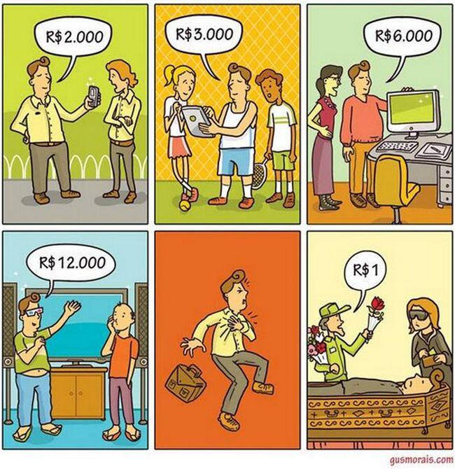 Qual é o valor das coisas? | Satirinhas