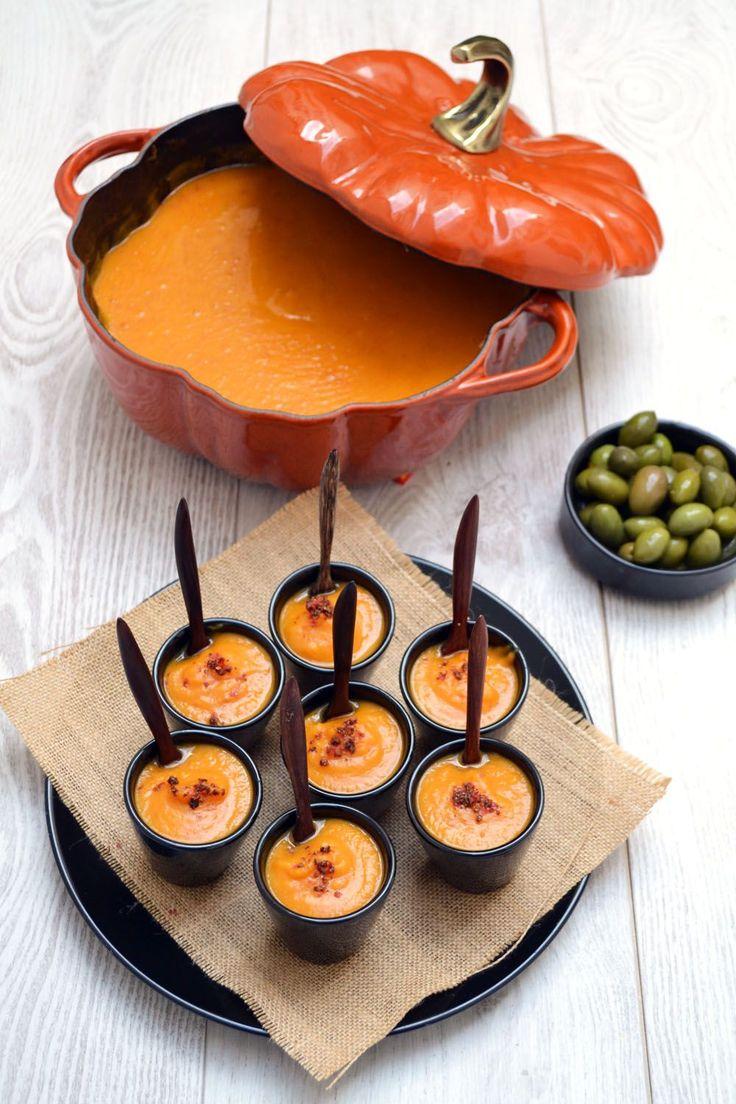 Ingrédients pour 20 petites verrines : – 2 carottes – 2 tiges de céleri – 2 oignons – 2 gousses d'ail – 800 g de patates douces – 200 g de chorizo – 1 c. à…