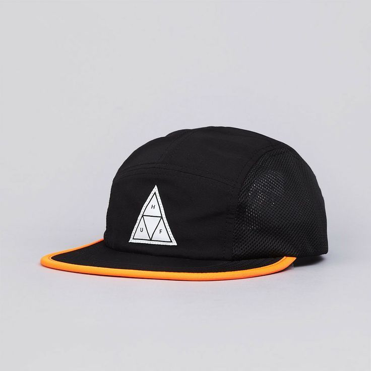 52cedfc61d2 Flatspot - Huf Scout 5 Panel Volley Cap Black   Orange