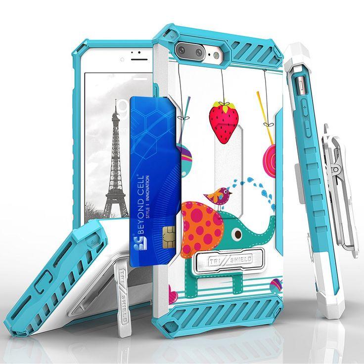Tri Shield For Apple iPhone 7 Plus BerryPhant, Belt Clip Holster