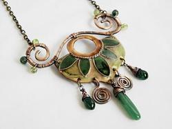 Enamel necklace - Forest by Boroka Halasz
