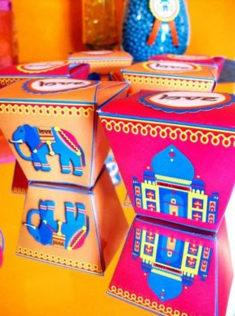 Printable Bollywood Bling Party favor Boxes - So cute!