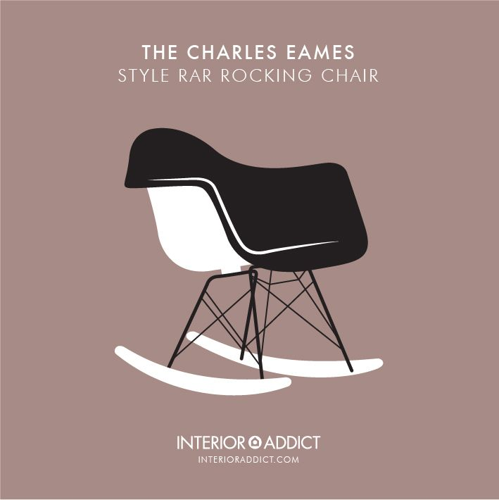 Eames Style RAR Rocking Chair#Eames #CharlesEames#RayEames #RockingChair
