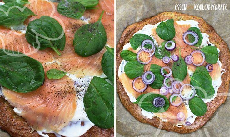 Hier haben wir für euch eine lecker leichte Low-Carb Spinat-Lachs Pizza. Gesund, leicht und lecker!