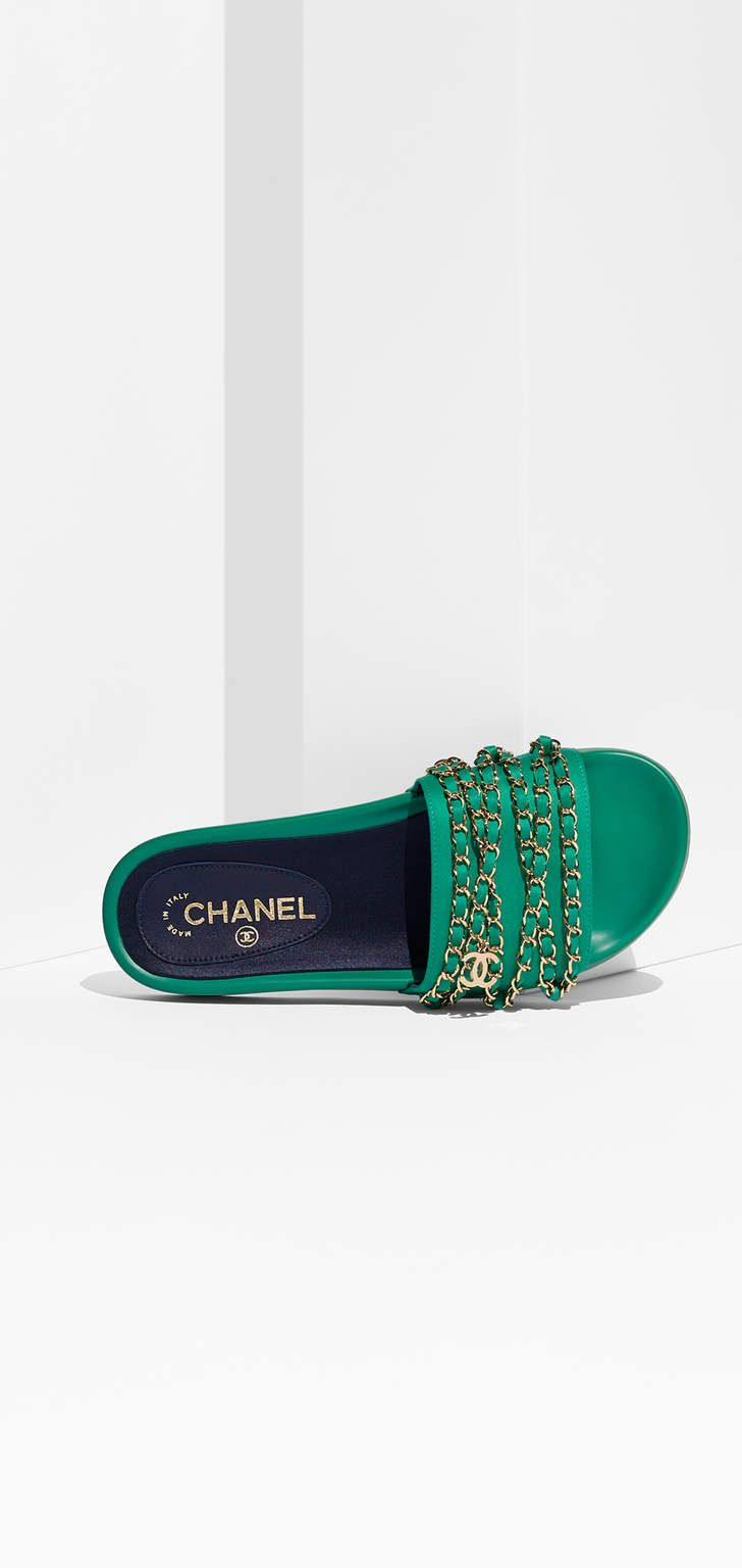 Cruise 2016&2017 green sandals chanel