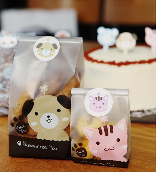 Open Top Cute Dog & Cat Design #Bakery Food Packaging ,Cookies Bags,Food Packaging,Opp Plastic Bread Bags. 15x7.5x4cm, 23x8.5x6cm From Rosezhu2014, $23.57 | Dhgate.Com