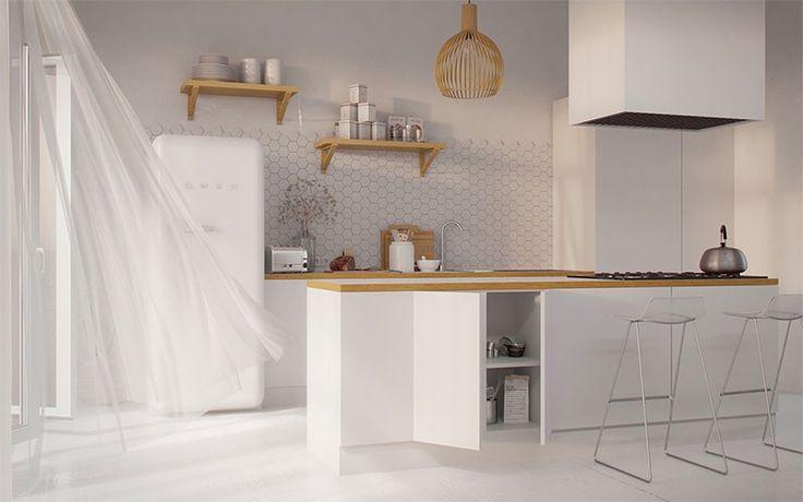 cuisine-blanche-avec-bois