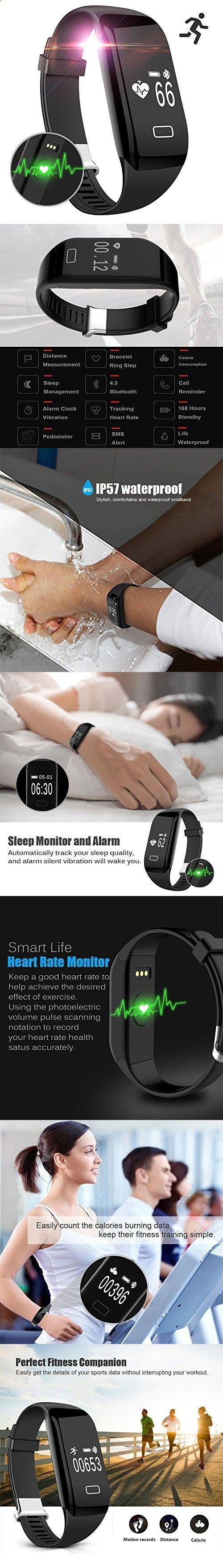 Activity Bracelets Fitness - Activity Bracelets Fitness - Mailiya Fitness Tracker Watch Heart Rate Monitor Activity Wristband Pedometer Sleep Monitor Smart Bracelet Calories Track Step Track Health Band Waterproof Smart Watch for iPhone Android phones - The benefits of wearing these smart bracelets are not only in your comfort, but also in that they are able to control all your physical progress - The benefits of wearing these smart bracelets are not only in your comfort, but also in t...