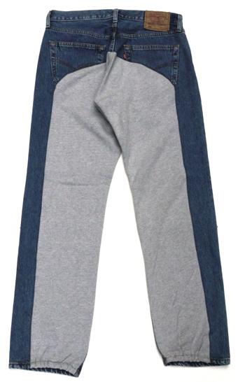 rebuilt jeans by Needles