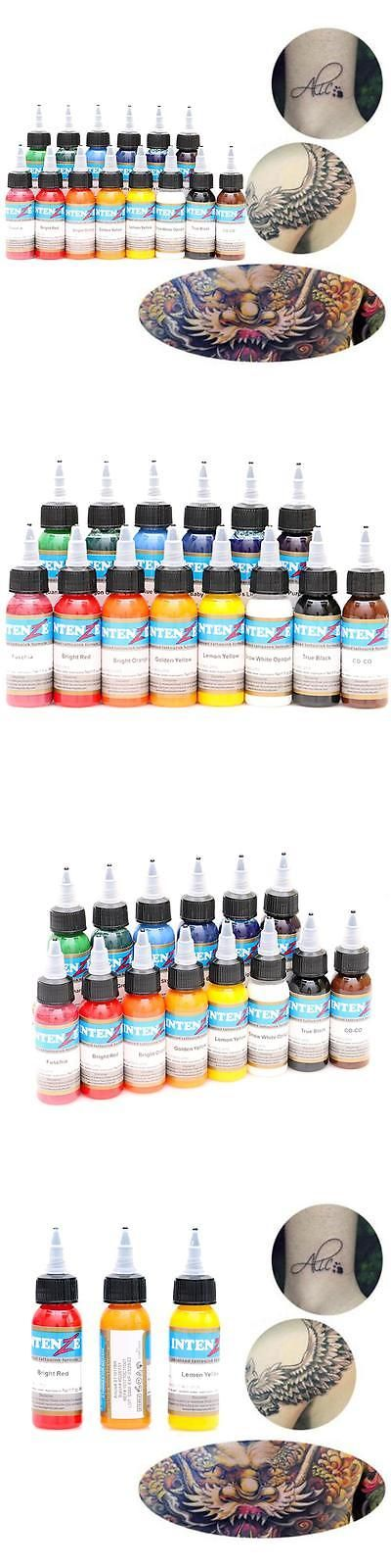 Tattoo Inks: Salon Tattoo Ink 14 Colors Set 1Oz 30Ml Bottle Tattoo Pigment Kit -> BUY IT NOW ONLY: $33.88 on eBay!