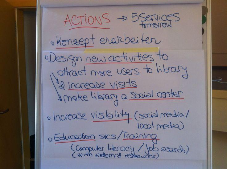 Aktionspunkte für die Bibliothek - gehen wir es an!
