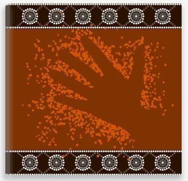Aboriginal Artwork Print – Hand Outline Dot Painting