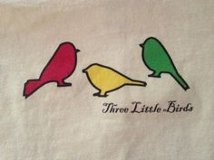 bob marley-three little birds in jamaican colors tattoo
