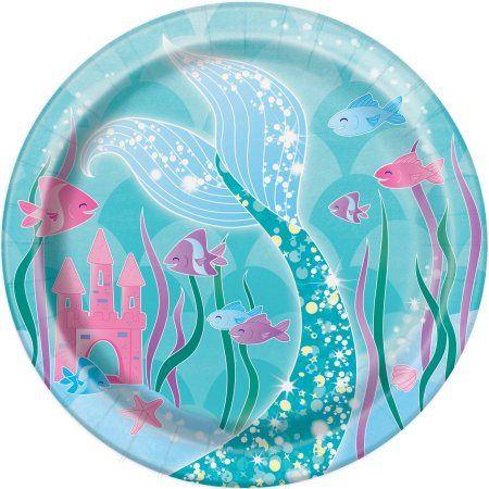 Sirena blu e viola partito piccoli piatti / Purple Mermaid