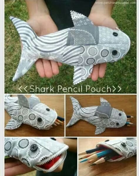 Shark/fish pencil case. Could easily be a bag or purse