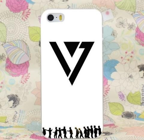 SEVENTEEN White Full Black Logo Trendy Design iPhone 5 6 7 Plus  #SEVENTEEN #White #Full #Black #Logo #Trendy #Design #iPhone5 #6 #7Plus